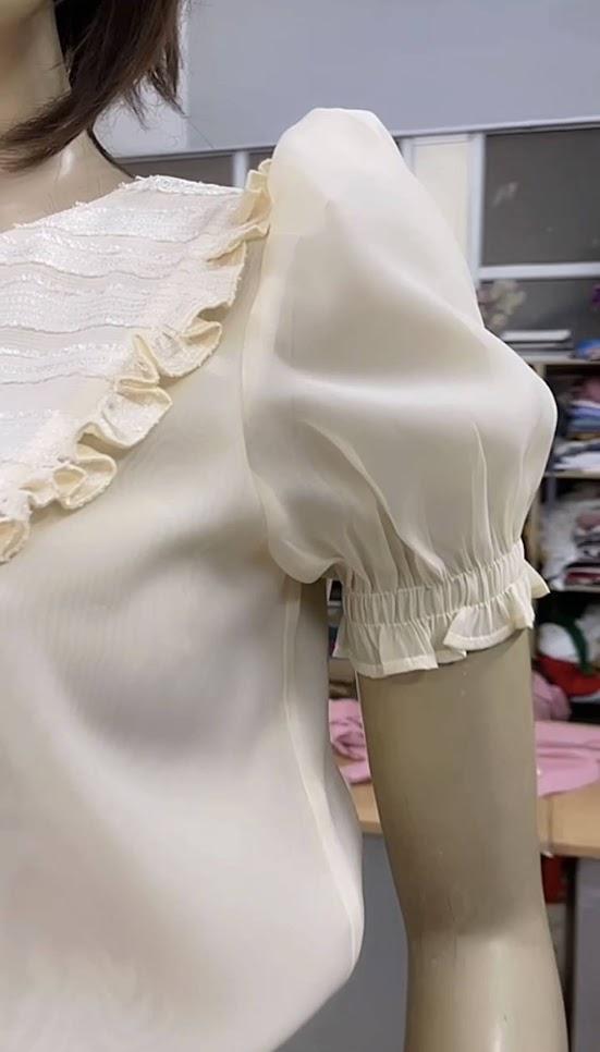 áo sơ mi nữ chân váy xòe công sở thời trang thủy quảng ninh
