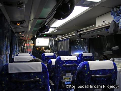 網走バス「ドリーミントオホーツク号」 1161 車内の様子