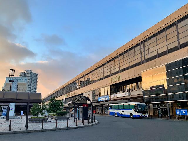 盛岡駅東口バスターミナルに着きました