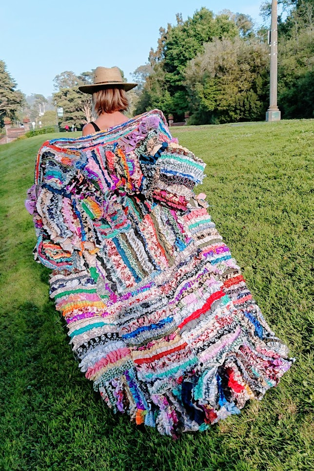 Lisa showing off the back of Gathered Cloths coat | Fafafoom Studio