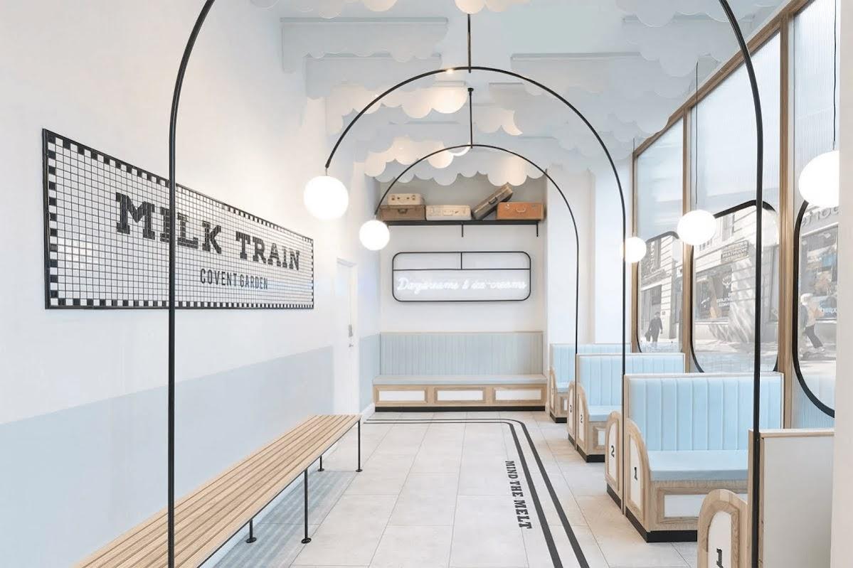 thiết kế nội thất cửa hàng kem
