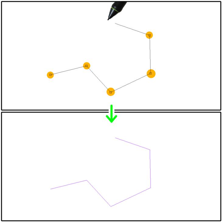 クリスタ曲線定規(直線)の設置