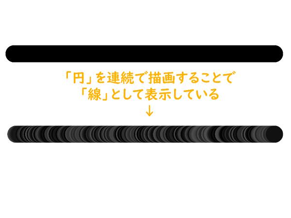 クリスタのペンツールのブラシ先端形状