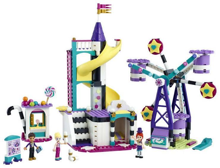 Contenido de LEGO® 41689 Mundo de Magia: Noria y Tobogán