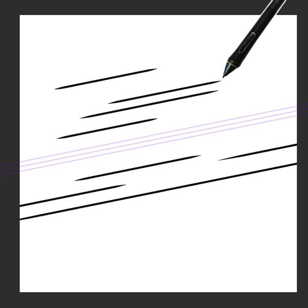 クリスタ特殊定規(平行線)を利用した描画