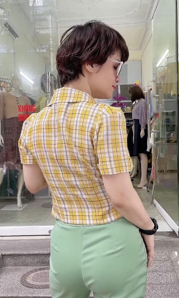 áo vest nữ công sở dáng ngắn mặc đẹp thời trang thủy thái bình