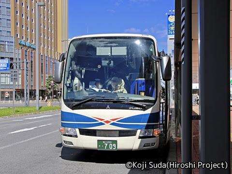 沿岸バス「13快速幌延留萌線」「56快速留萌旭川線」 ・709 旭川駅前到着