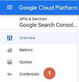 Google Cloud Platform Side Menu