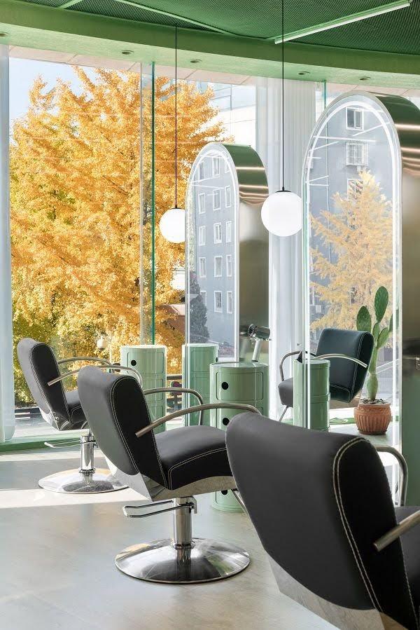 thiết kế studio tạo mẫu tóc