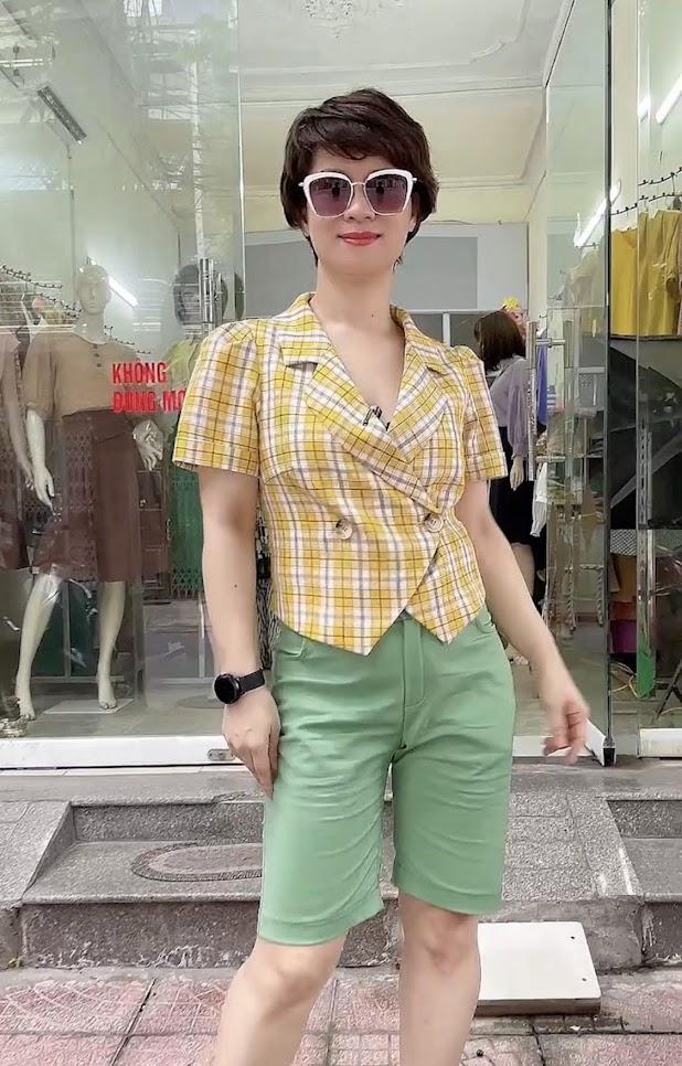 áo vest nữ công sở dáng ngắn mặc đẹp thời trang thủy kiến an