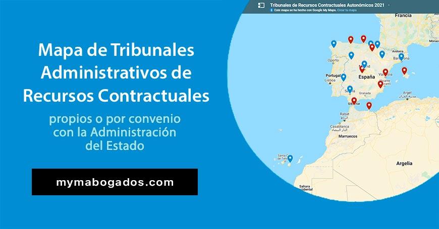 Mapa de Tribunales Administrativos de Recursos Contractuales | Melián Abogados