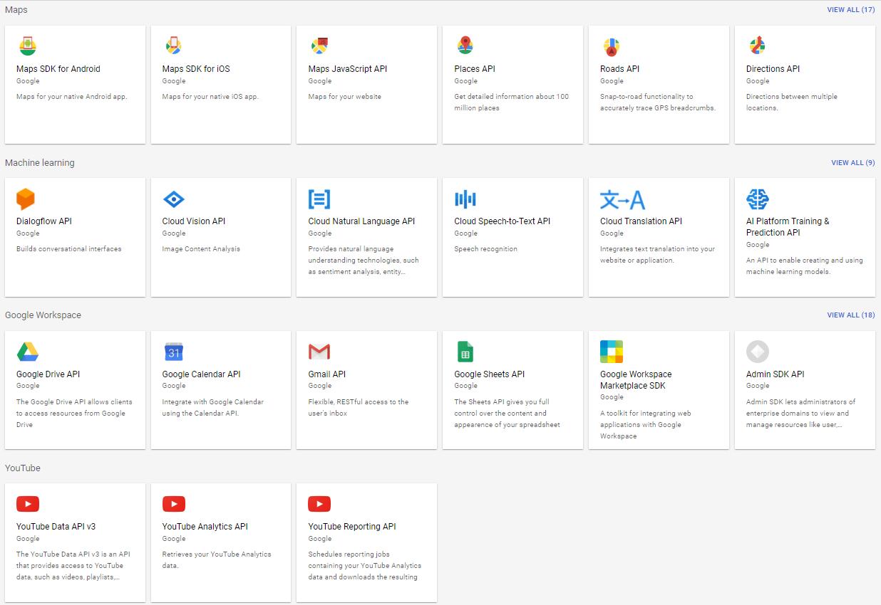 Google Cloud Platform APIs