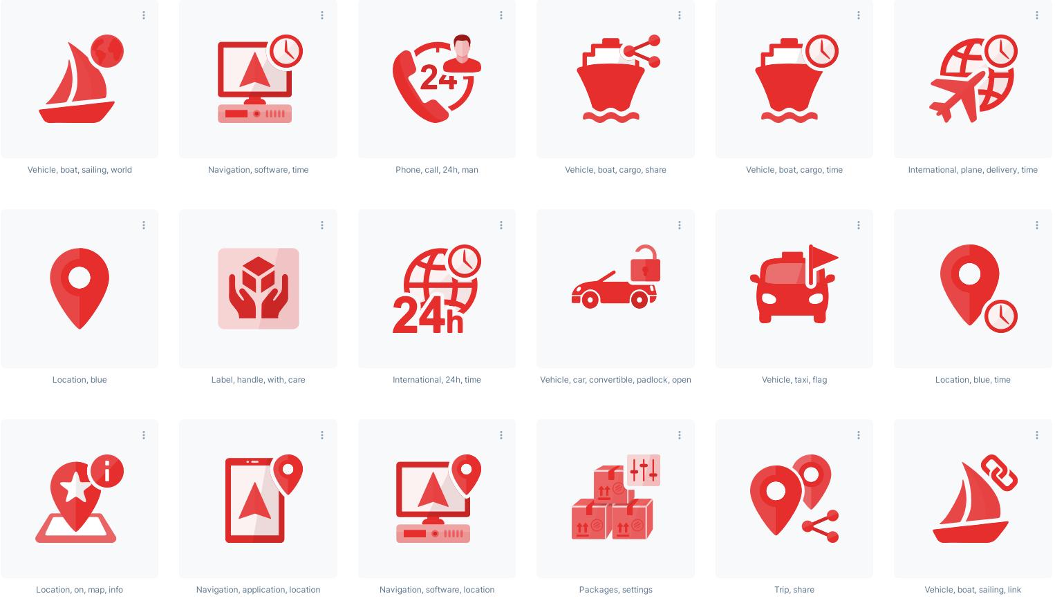 Transportation and Logistics transparent icons
