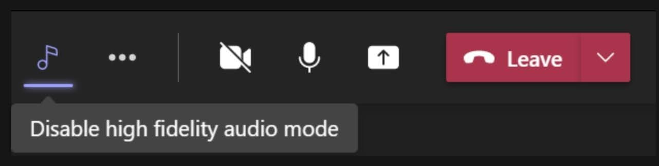Please toggle the Ubar music mode icon to off once you have completed your music session.