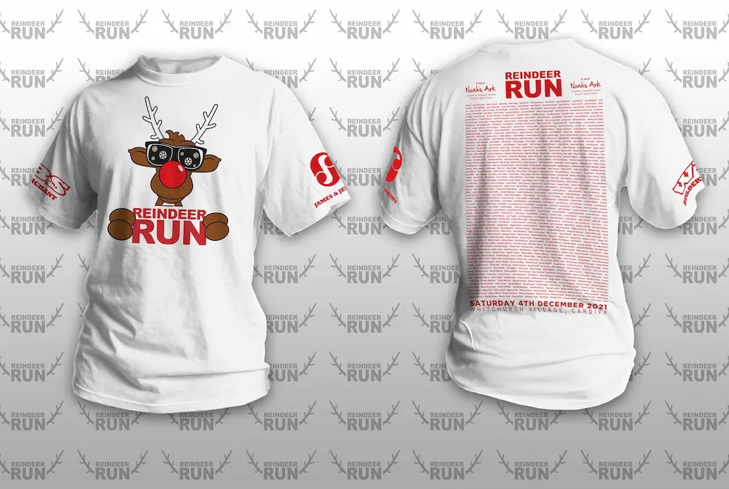 Reindeer Run Names T-Shirt