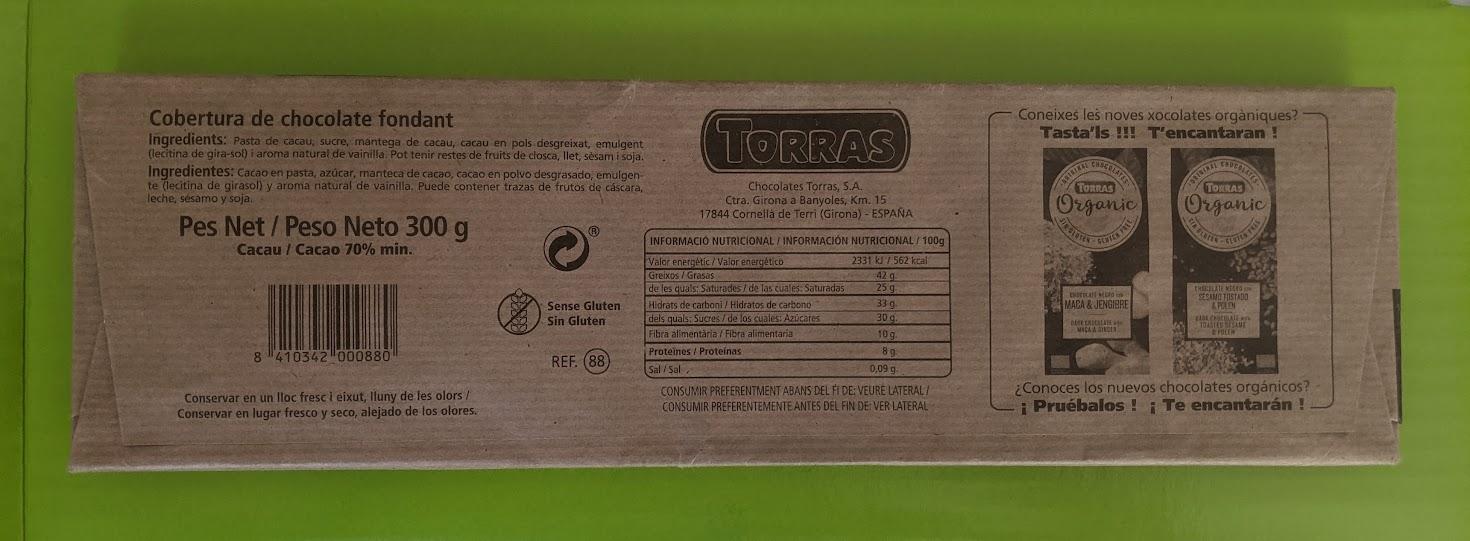 70% torras backing bar