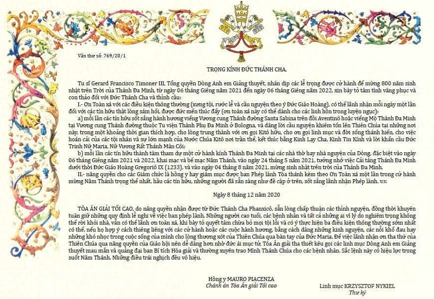 TLO: Mừng Kính Thánh Phụ Đa Minh, 08.8.2021