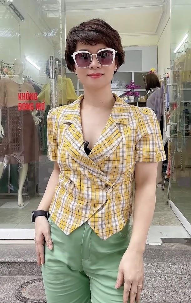 áo vest nữ công sở dáng ngắn mặc đẹp thời trang thủy sài gòn
