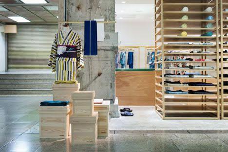 thiết kế cửa hàng bán kimono