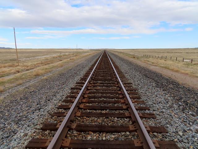 Railroad tracks on the Lucin Cutoff