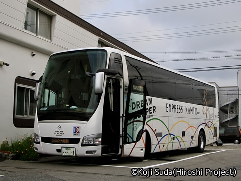 関東バス「ドリームスリーパー東京大阪号」 ・・・1 両備バス門真車庫到着