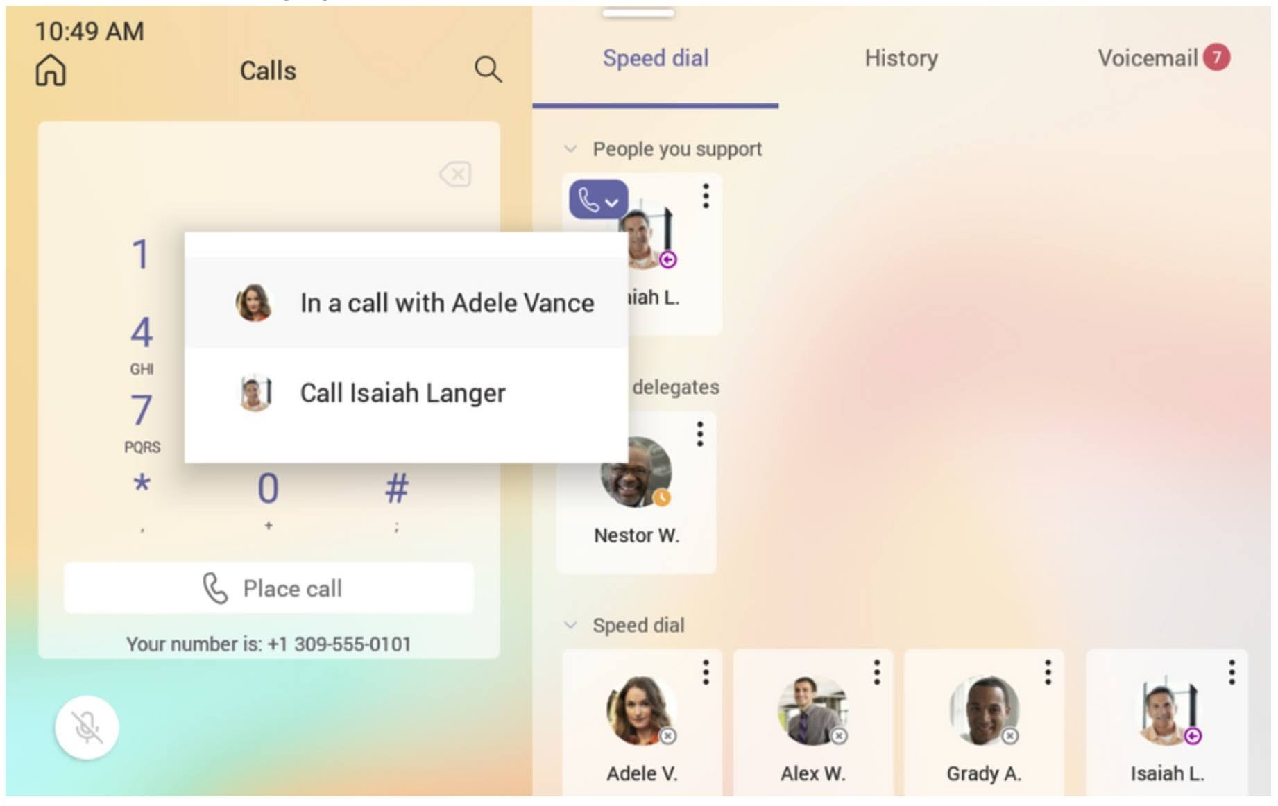 Microsoft Teams Displays Update on June 2021: Improved usability for advanced calling features