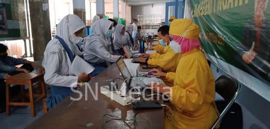 Vaksinasi pelajar SMAN I Ngawi