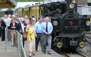 Parliamentarians take the Llanfair line
