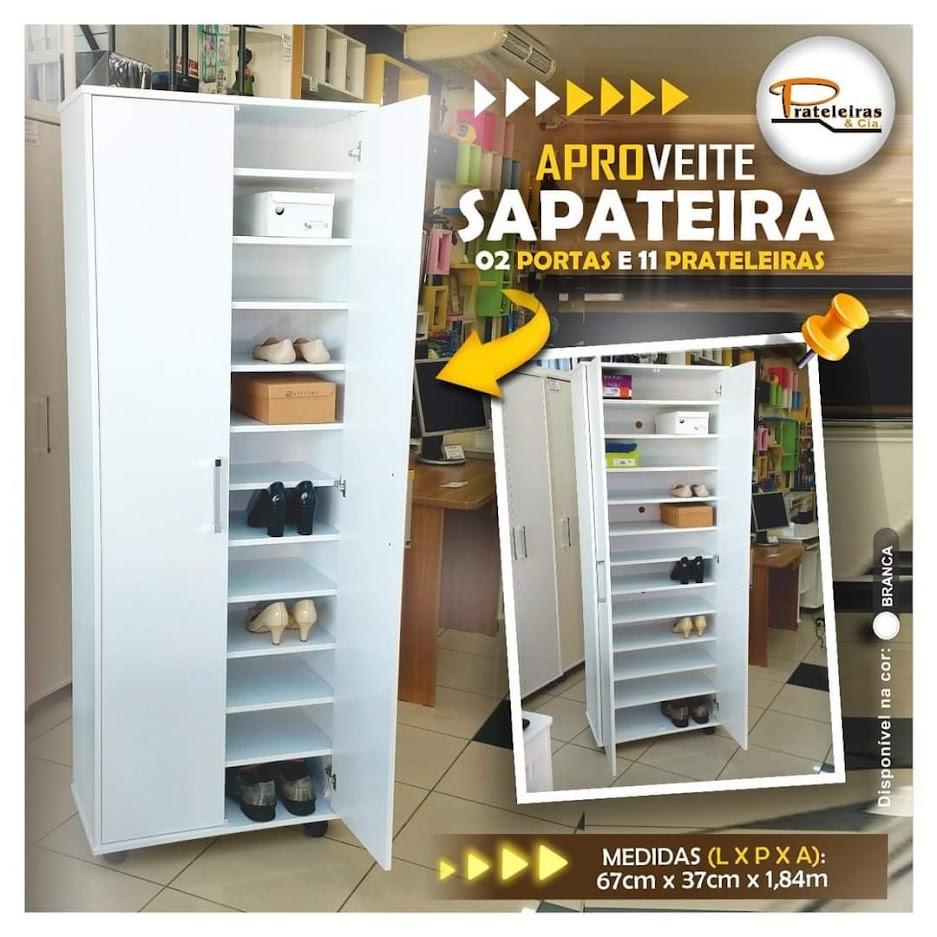 Sapateira Grande 02 Portas com Rodízios.