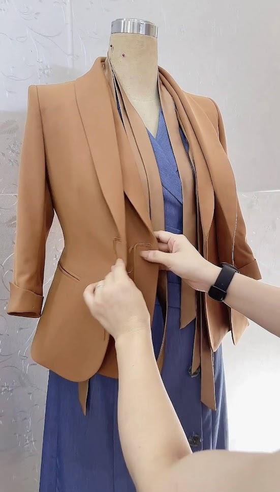 áo vest nữ công sở thời trang thủy thiết kế ở hải phòng