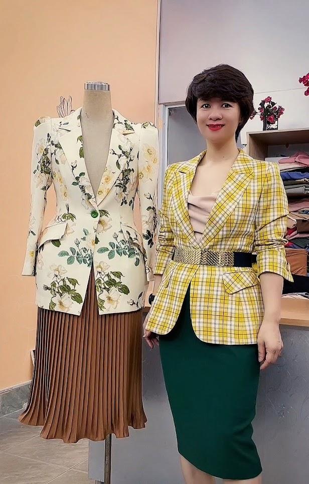 áo vest nữ dáng eo thiết kế phồng hông mặc công sở đẹp thời trang thủy hải phòng