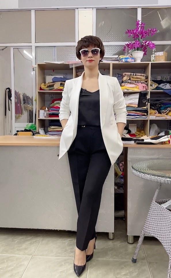 áo vest nữ cổ sam dáng dài suông eo mặc đẹp thời trang thủy nam định