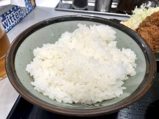大きめの茶碗に盛られたご飯