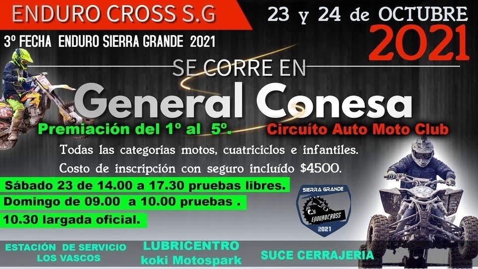 El Enduro Cross de Sierra Grande desembarca en Conesa