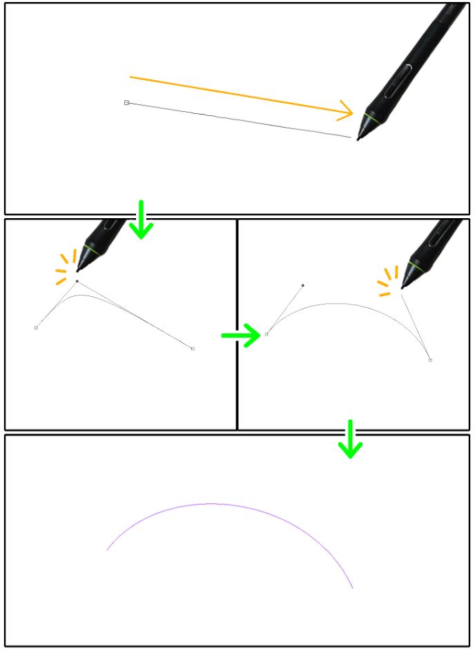 クリスタ直線定規(3次ベジェ)の設置