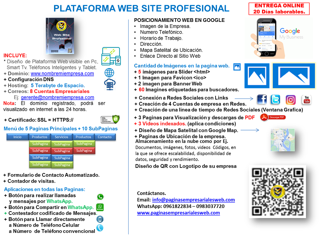 Plataforma Web Profesional
