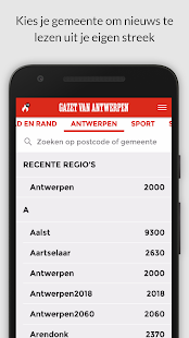 gva.be mobile - náhled
