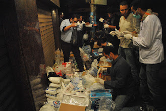 Photo: Another makeshift hospital on a side street off of Tahrir Square.