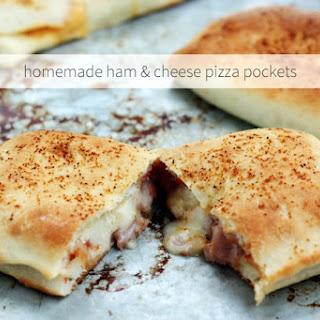 Homemade Ham & Cheese Pizza Pockets.