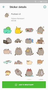 Pusheen: Cat WAStickerApp Screenshot