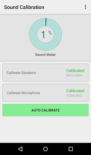 Sound Calibration