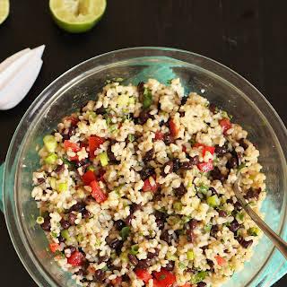 Rice and Black Bean Salad.