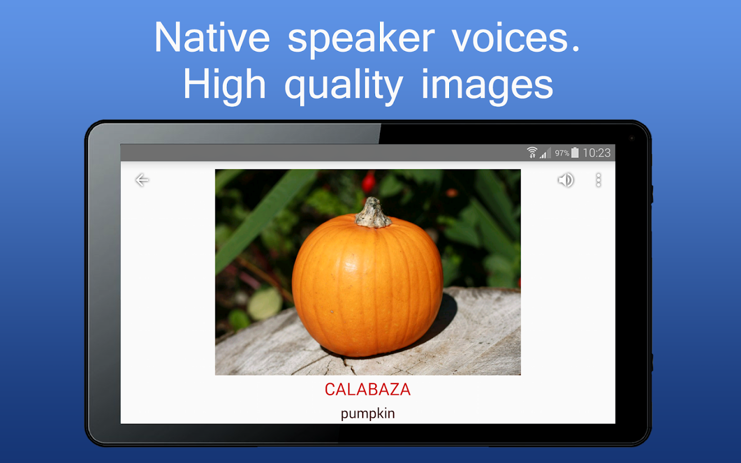 iSpeak learn words in 8 language English German- screenshot