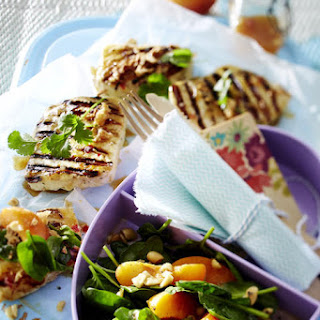 Spinach Salad with Grilled Halloumi