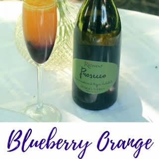 Blueberry Orange Mimosas.