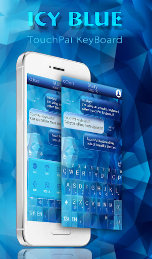 TouchPal Icy Blue Theme
