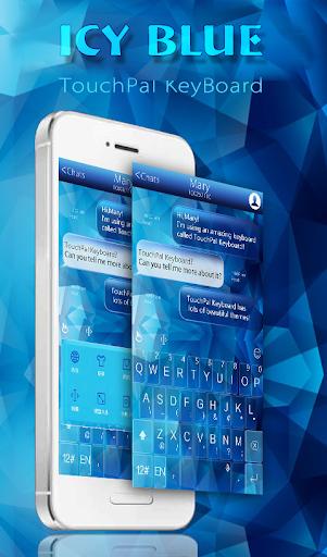玩免費通訊APP|下載TouchPal Icy Blue Theme app不用錢|硬是要APP