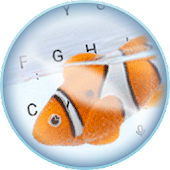 Live Clown Fish Keyboard Theme