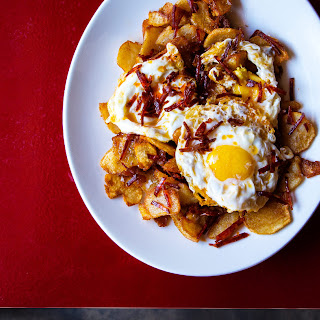 Fried Eggs with Chorizo and Fried Potatoes