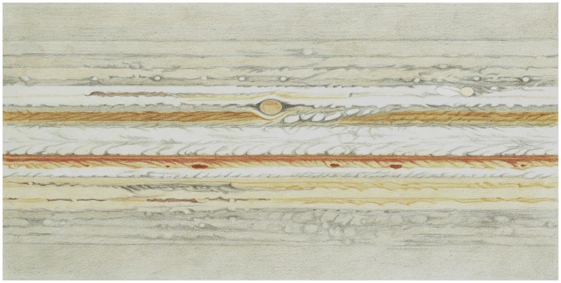 Photo: Planisphère qui synthétise mes dessins du 19 novembre au 17 décembre 2011.